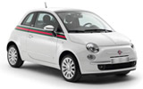 Fiat 500 Mini carrental at Bordeaux Airport, France