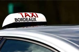 Car rental or taxi at Bordeaux Airport, France