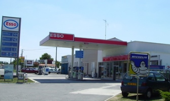 Fuel stations around Bordeaux Airport, France